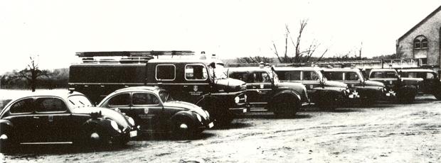 Fahrzeugpark aus dem Jahre 1966.
